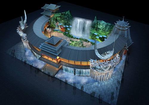 世博会贵州馆公布设计效果图突出山水与民俗中的特色元素[组图]