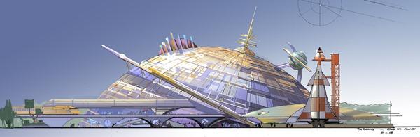 上海迪士尼乐园 飞越太空山 Space Mountain 的概念图