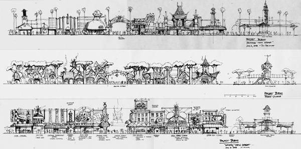上海迪士尼乐园 美国小镇大街 草图 Shanghai Disneyland Main Street USA Sketch