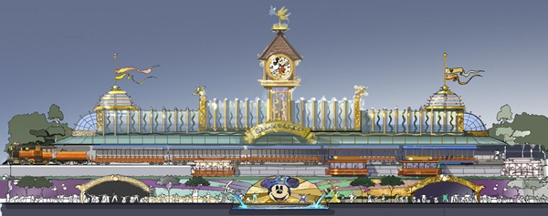 迪士尼铁路车站概念图 Disney Train Station Concept