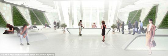 摩地大楼内的大部分空间将用于办公使用