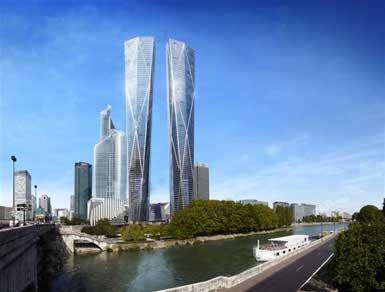 福斯特公布324米的巴黎拉德芳斯双子塔设计