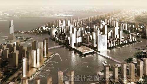 OMA:迪拜滨水城市设计-图片2