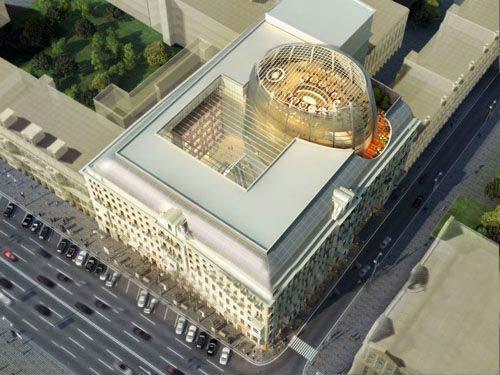 HOK公司公布莫斯科东方酒店设计方案-图片1