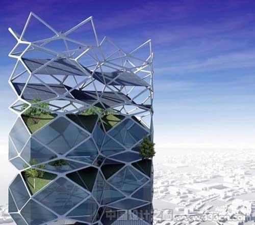 垂直公园:墨西哥城的层叠式太阳能摩天建筑-图片1
