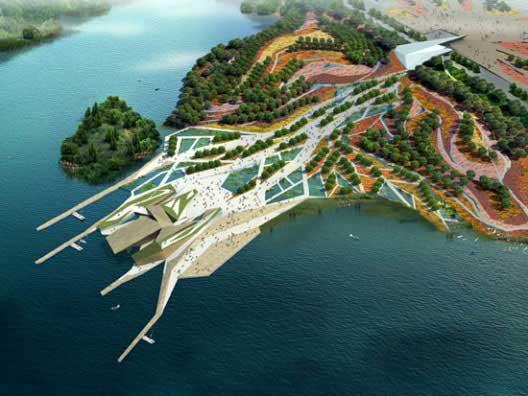 西安国际园艺展览会全景图