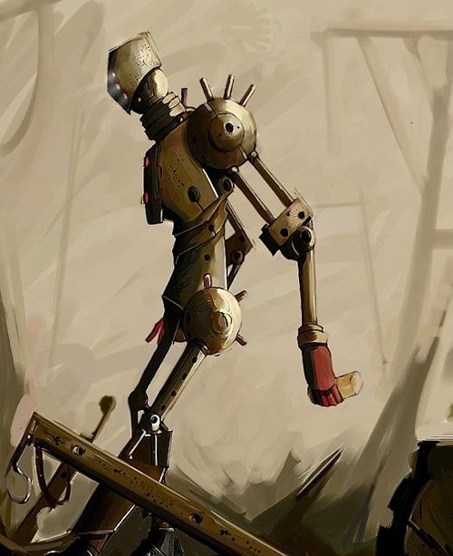 插画 机器人 创意 设计 欣赏