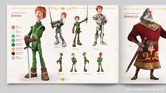 西班牙首部3D动画电影《天平与剑》形象标志