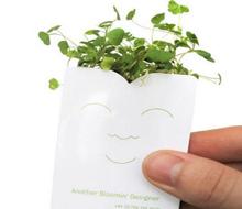 可爱的盆栽名片设计