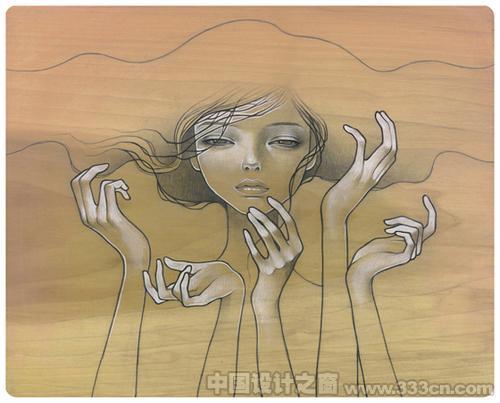 水彩插画 插画设计 插画创意 创意设计 国外插画