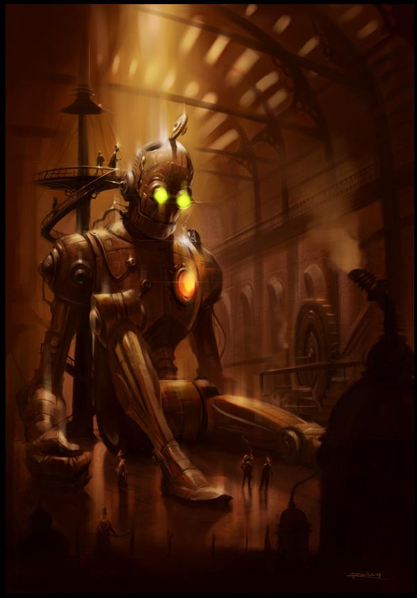 朋克(Steampunk)风格插画欣赏