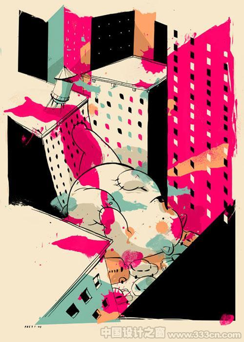 美国插画 插画设计 插画风格 插画创意 国外插画欣赏