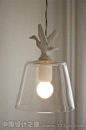 陶瓷动物灯 给予房间自然感的设计