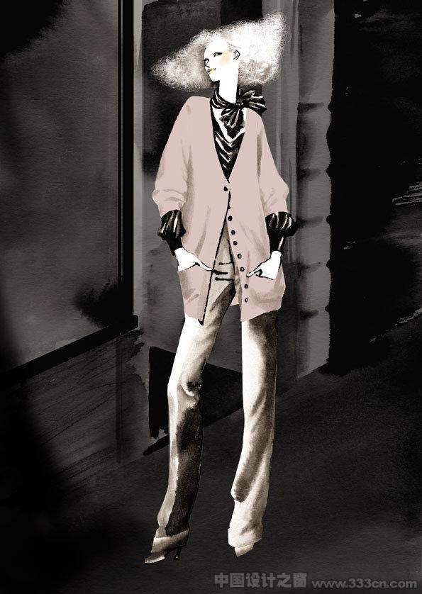 韩国 时尚 服装 设计 插画 欣赏