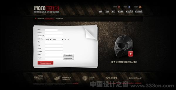 tomBiker 网页 web 界面 交互