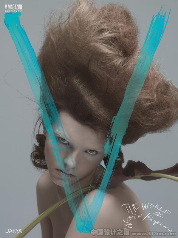颓废迷离风格 时尚艺术杂志《V》magazine封面专辑