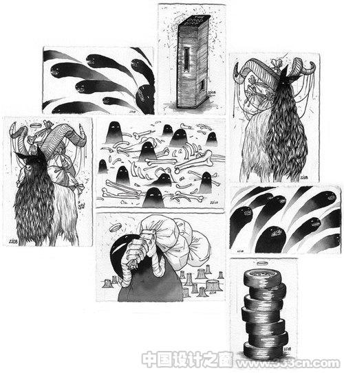 涂鸦风格插图设计欣赏(二)