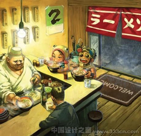 香港插画师 cuson作品