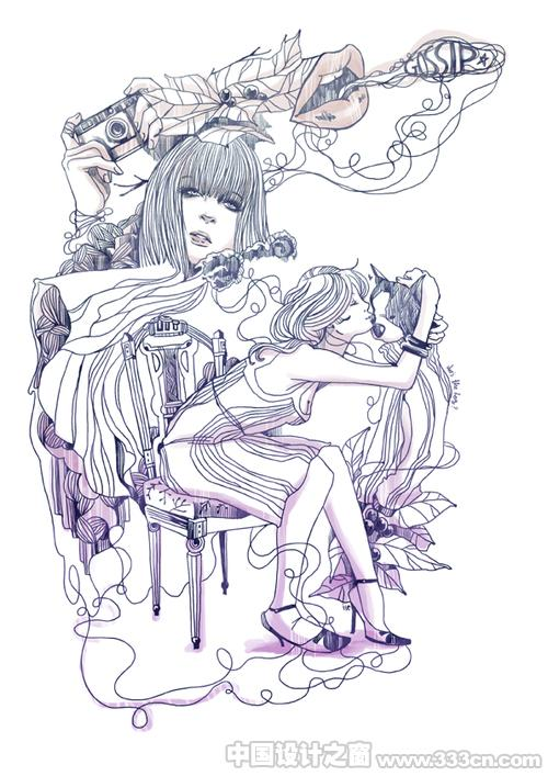 女人的魅影-泰国插画大师作品(二)