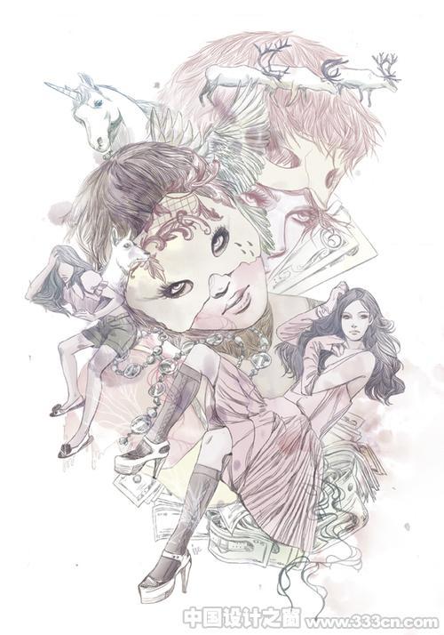女人的魅影-泰国插画大师作品(一)
