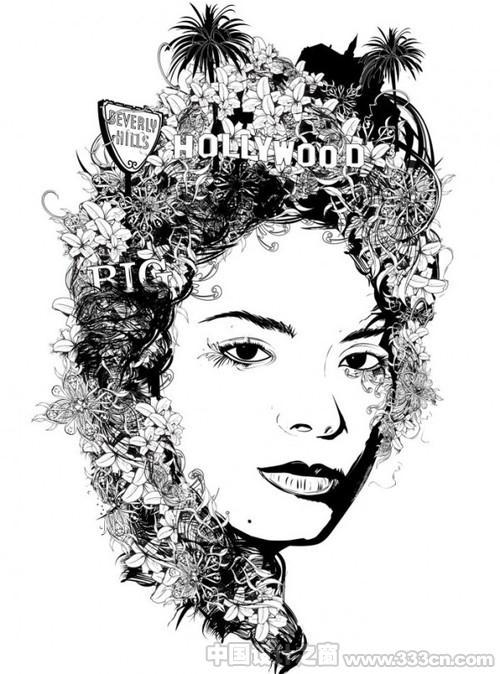 黑白画映――Douglas Alves现代插画艺术