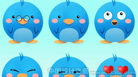新鲜时尚Twitter图标设计