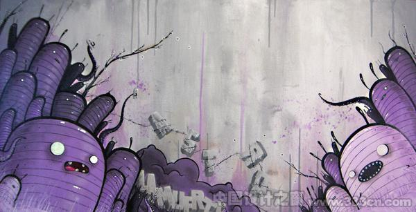 街头涂鸦 插画 无风格 超现实主义 幻想