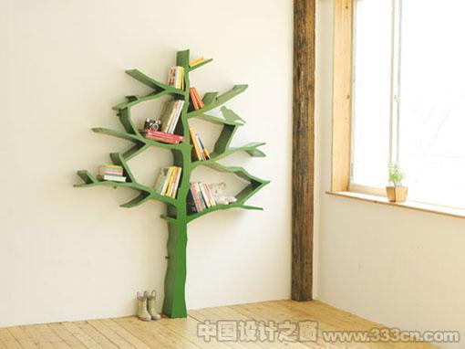 书架 工业设计 树形书架 创意 Tree-Bookshelf