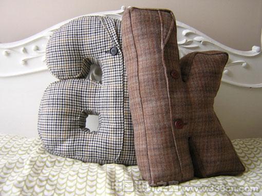 枕头 字母 设计 产品 家具
