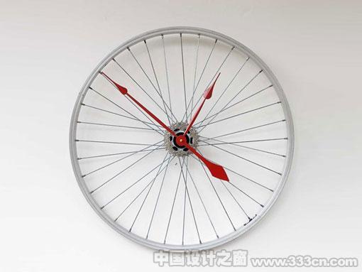 钟表 自行车轮 环保 产品 创意