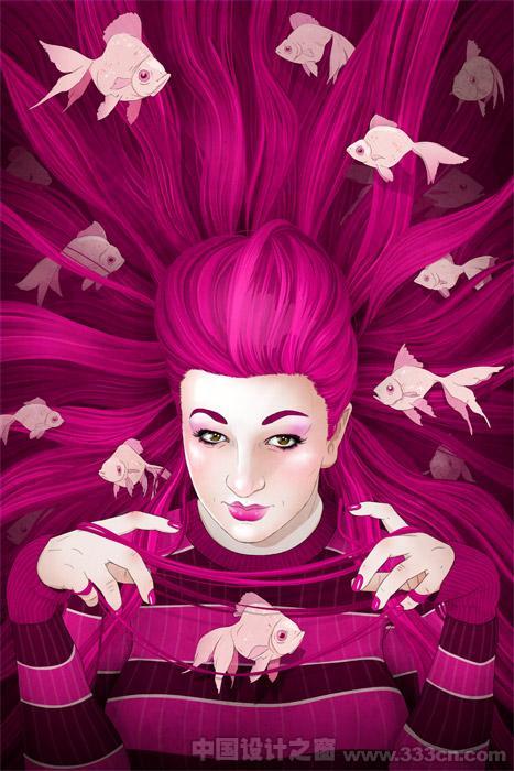 人物插画 发型 设计 创意 风格