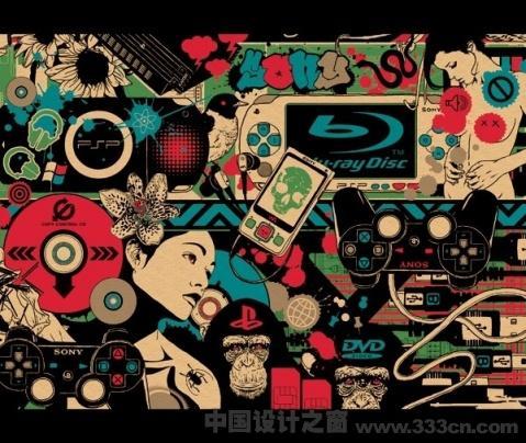 Marumiyan 日本 日本插画 拼贴风格 创意