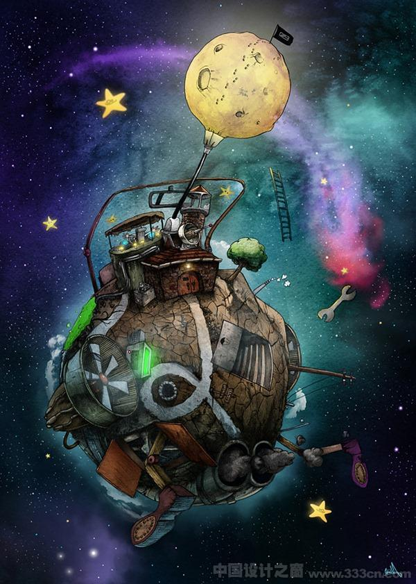 SlashThree 超现实 科幻 插画 创意