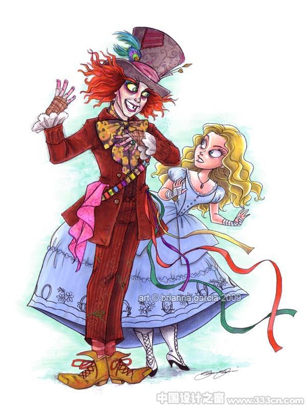 爱丽丝梦游仙境,系列插画,童话,童插画,创意