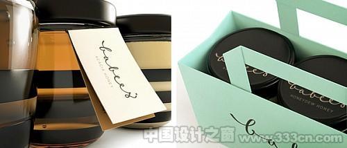 可爱的Babees蜂蜜包装设计