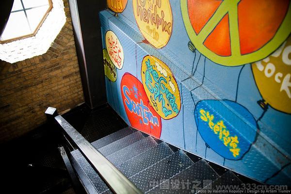 摇滚无处不在的餐厅空间装饰设计