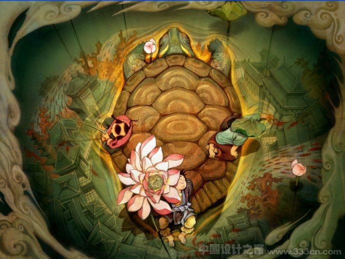 吴洋中国风神话插画赏