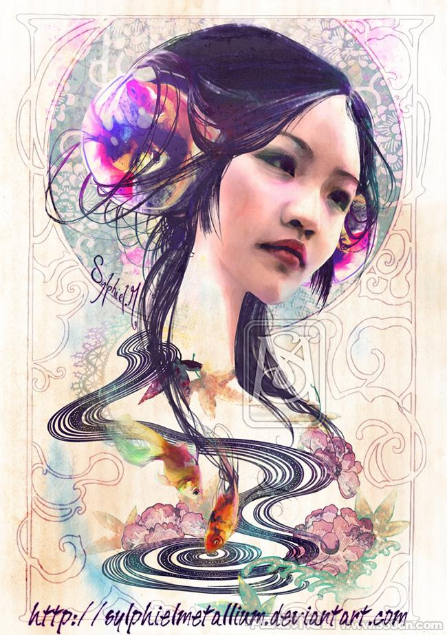 法国Sylphiel神秘性感的CG插画作品