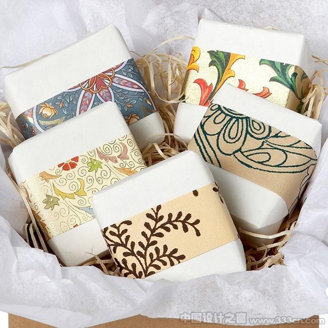 中国设计之窗--精美的手绘插画手工皂包装设计图片