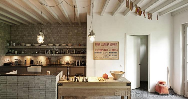 20款开放式欧洲经典厨房餐厅 装修效果图 实景