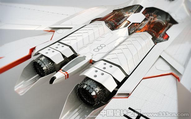 Timon Sager可居住长距离旅行的概念喷气式直