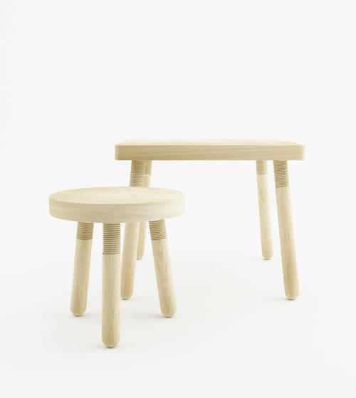 简约至美日本设计师JonahTakagi家具设计钢构图纸绘制图片