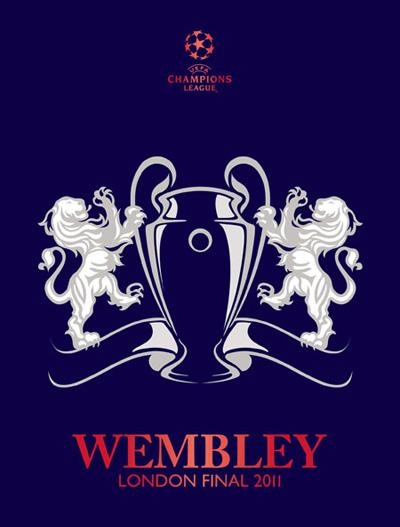 11wembleyclfinallogo 2011欧冠联赛决赛标志揭晓(附近几年欧冠决赛标志集合)