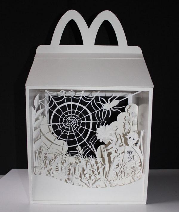 艺术家helen musselwhite的纸雕插画作品设计