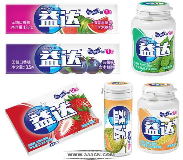 益达 Extra 口香糖包装 包装设计 箭牌公司