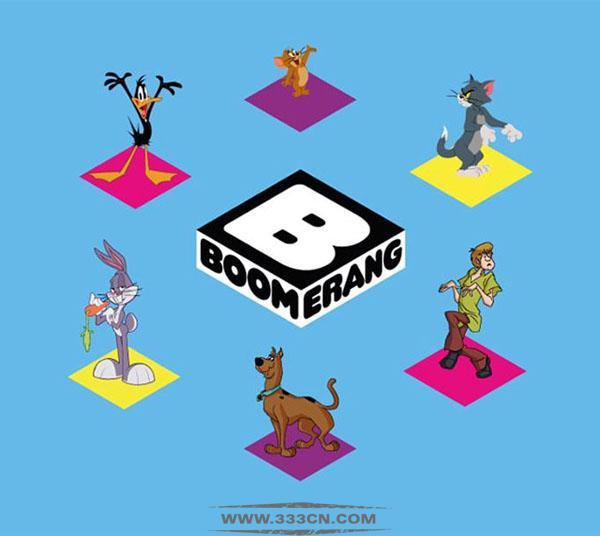 国际有线电视网络 Boomerang 新LOGO 设计 创意