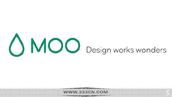 英国在线印刷公司 MOO 新LOGO 标识设计 创意