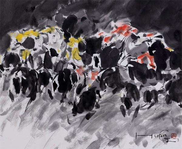 视觉畅想 丹青意象 黄炯青 当代水墨画展 长沙市美庐美术馆 南省美术家协会