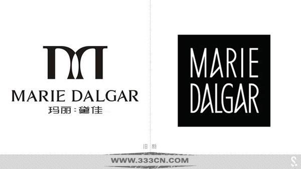 中国内地 彩妆品牌 玛丽黛佳 新LOGO 化妆品包装 logo