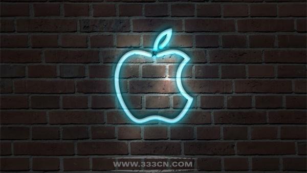 霓虹灯 效果 苹果LOGO 标识 创意